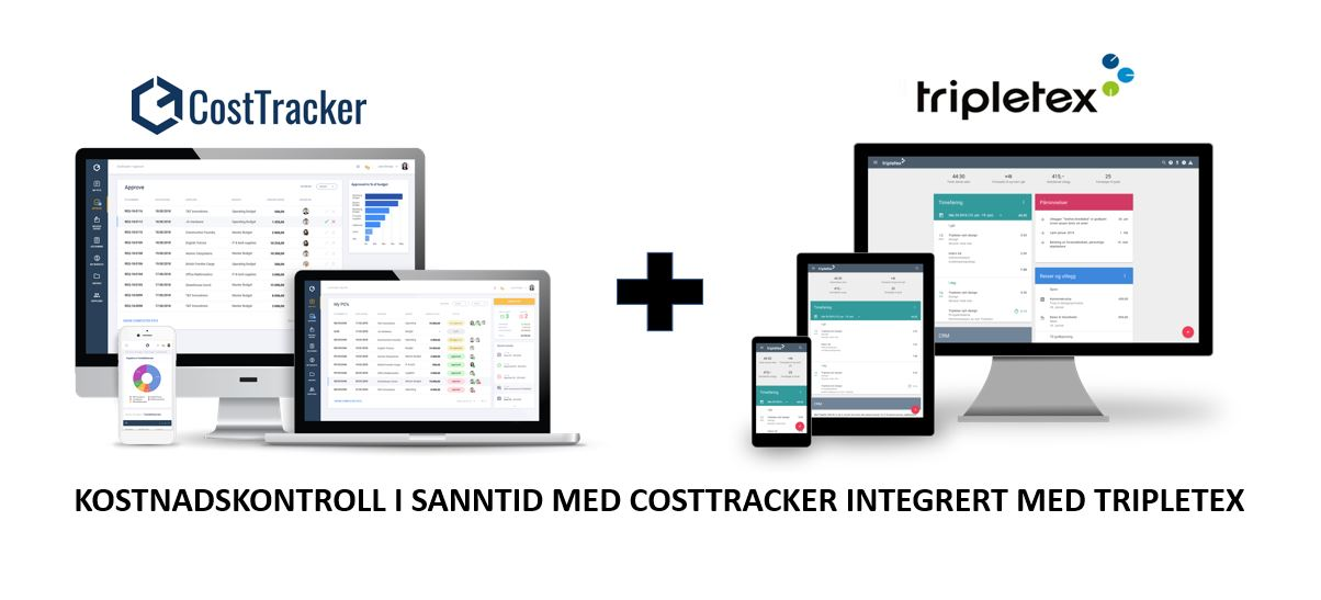 CostTracker + Tripletex = Total kostnadskontroll
