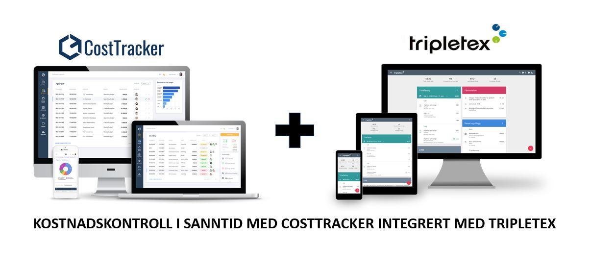 CostTracker + Tripletex = Total kostnadskontroll